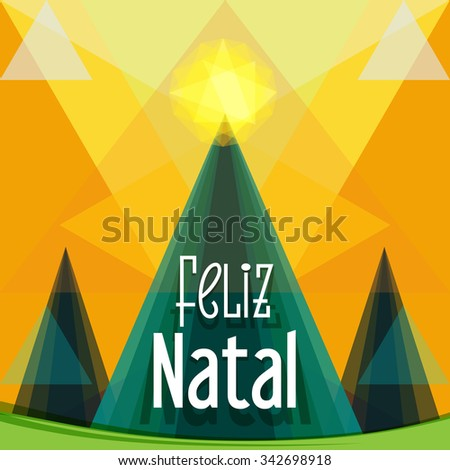 Christmas greeting brazil feliz natal merry stock vector 342698918 christmas greeting in brazil feliz natal merry christmas greeting card three m4hsunfo