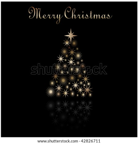 Christmas Greeting with Christmas Tree