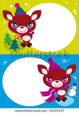 christmas greetings 2 - stock vector
