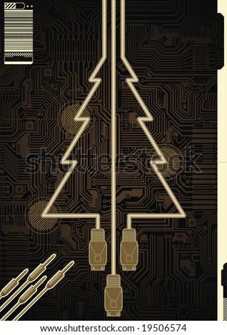 Christmas greetings card technology company stock vector 19506574 christmas greetings card for a technology company m4hsunfo