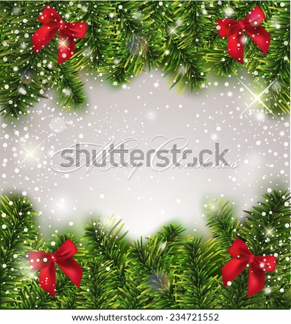 Christmas Greiting Card - stock vector