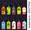 Christmas grunge tags. To see similar, please VISIT MY GALLERY. - stock vector
