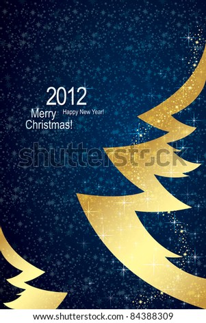 Christmas & Happy New Year background - stock vector