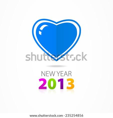 Christmas heart icon - stock vector
