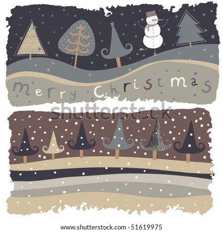 Christmas holiday background in retro style - stock vector