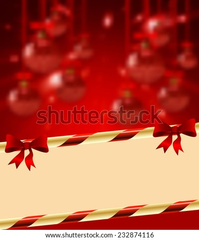 Christmas holiday bright background with ball. vector - stock vector