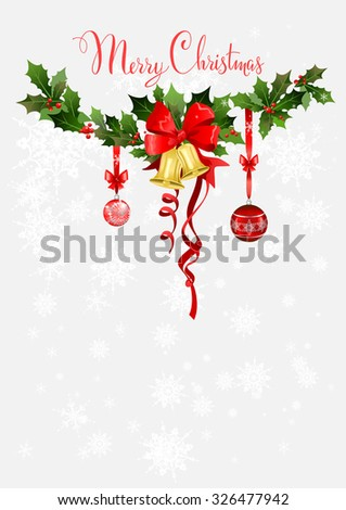 Christmas holiday design for background, invitation, banner, leaflet and so on. - stock vector