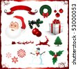 Christmas holiday elements - stock vector