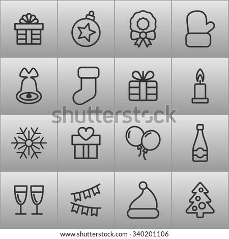 Christmas holiday icons / Christmas vector icon / Christmas icon picture / Christmas icon drawing / Christmas icon image / Christmas icon graphic / Christmas icon EPS / Christmas icon AI - stock vector