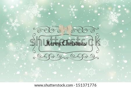 Christmas horizontal banner.Vector illustration - stock vector