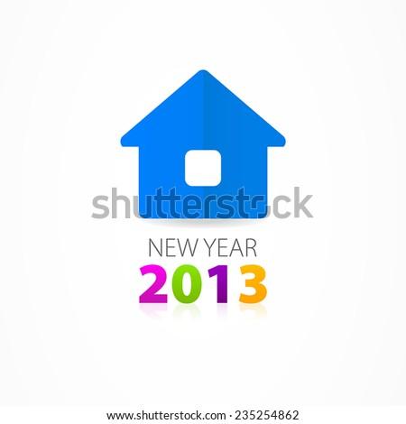 Christmas house icon - stock vector