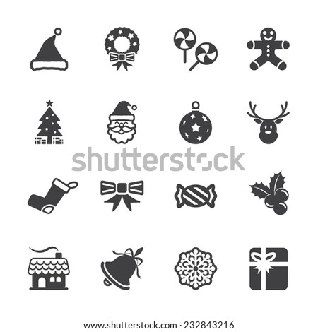 christmas icon set 6, vector eps10.
