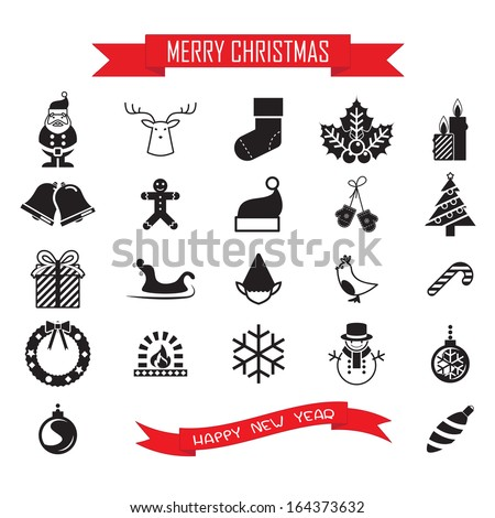 Christmas Icons Collection set - stock vector