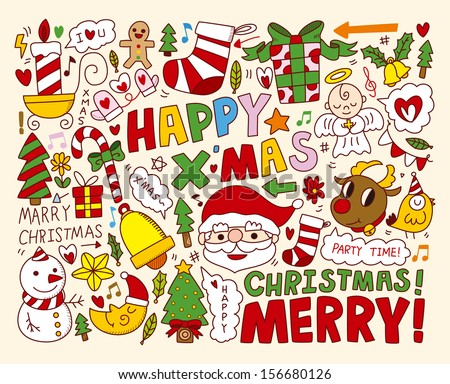 Christmas Icons/Objects Collection - stock vector