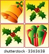 Christmas icons, vector - stock vector