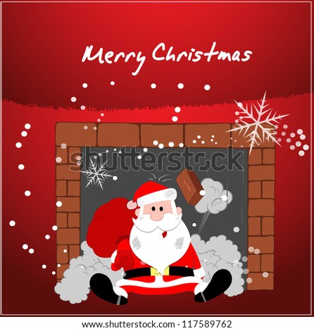 Christmas Illustration Vector Background - stock vector