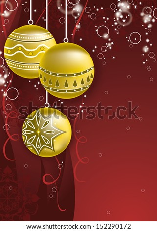 Christmas Illustration. Vector Background.