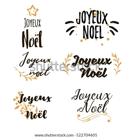 Christmas french greeting joyeux noel calligraphic stock vector christmas in french greeting joyeux noel calligraphic lettering set collections of beautiful merry christmas m4hsunfo