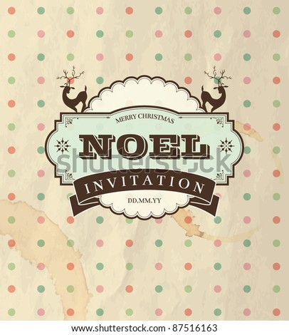 Christmas Invitation - stock vector