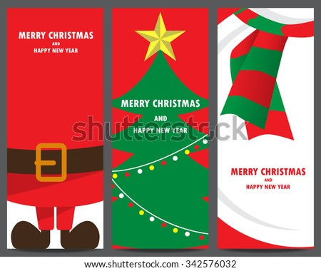 christmas invitation and greeting template. santa clause, xmas tree, snowman. can be use for business shopping gift voucher, customer sale promotion, layout, banner, web design. vector illustration - stock vector