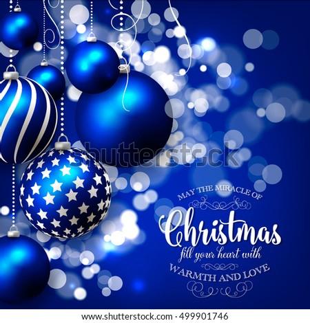 Beautiful Blue Christmas Tree