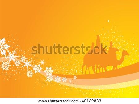 christmas kings background - stock vector