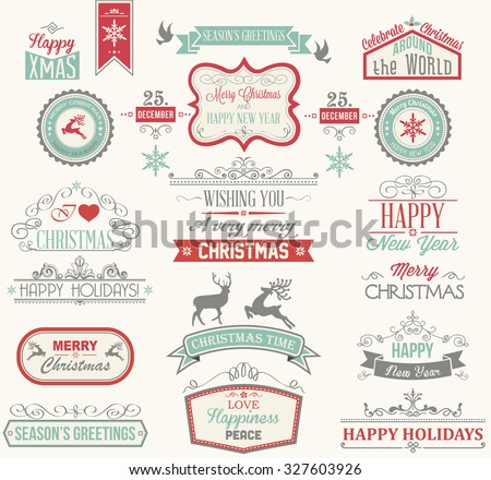 Christmas Label and Design Elements - stock vector