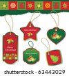 christmas label design elements - stock vector