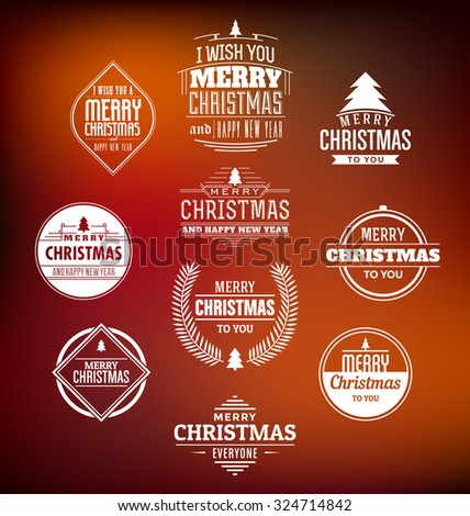 Christmas Label Set - Design elements, insignias, business signs, badges collection - stock vector