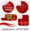 Christmas labels and stickers set - stock vector