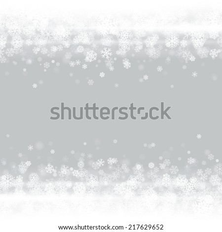 Christmas light and snowflakes vector background. Greeting card or invitation decoration.  - stock vector