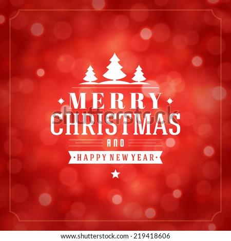 Christmas light vector background. Card or invitation.  - stock vector