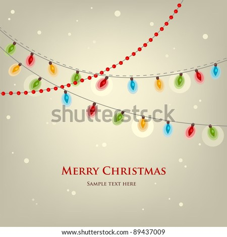 Christmas lights - stock vector