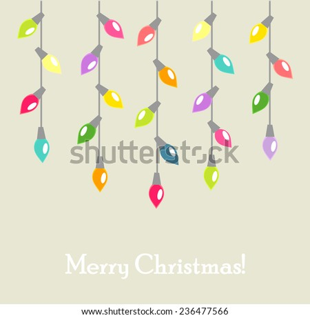 Christmas lights background. Vector illustration - stock vector