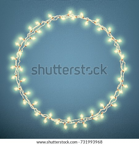 christmas lights concept holiday card template with garland effect and also includes eps 10 - R2d2 Christmas Lights