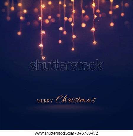 Christmas lights, holiday background, eps 10 - stock vector