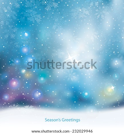 Christmas lights holiday mood blurred background. - stock vector