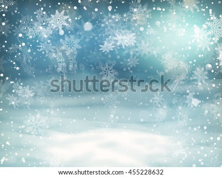 Christmas Lights on blue background. EPS 10 vector file included - stock vector