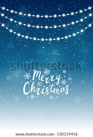 Christmas lights on starry background