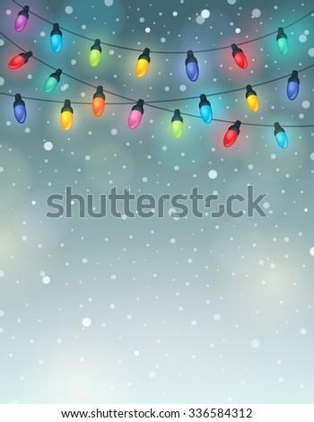 Christmas lights theme image 6 - eps10 vector illustration. - stock vector