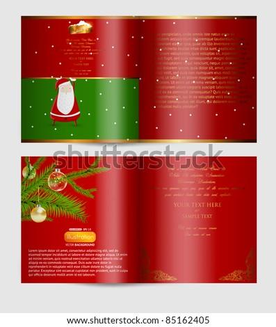 Christmas magazine blank page template - stock vector