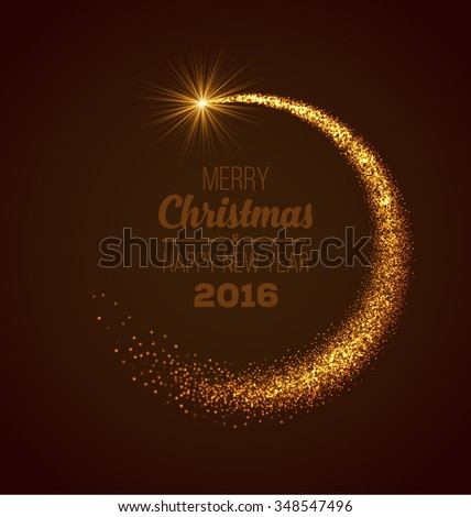 Christmas Magic Glittering Light. Shining Swirl Light. Vector Illustration. - stock vector