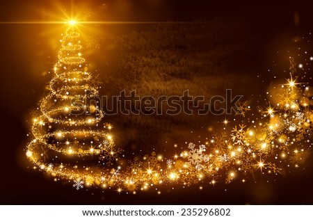 Christmas Magic Tree Bright Star On Stock Vector 235296802  - Magic Christmas Tree