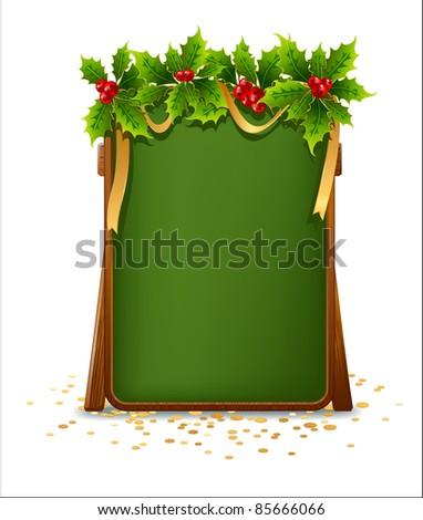 Christmas menu bulletin board - stock vector