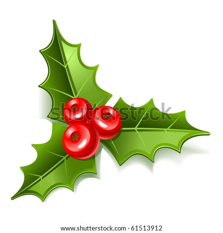 christmas mistletoe icon - stock vector