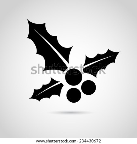 Christmas mistletoe icon isolated on white background. VECTOR art. - stock vector