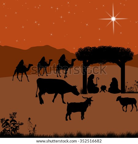 vector manger scene stock images royalty free images vectors shutterstock 4784