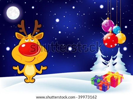 Christmas & New Year Card -Vector Art- - stock vector