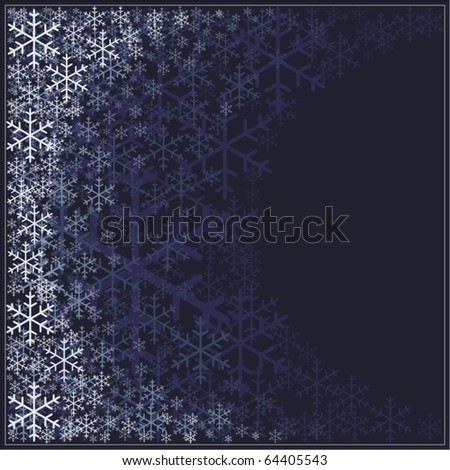 christmas/new year frame - stock vector