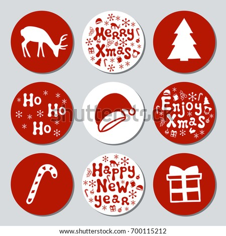 Round Holiday Stickers